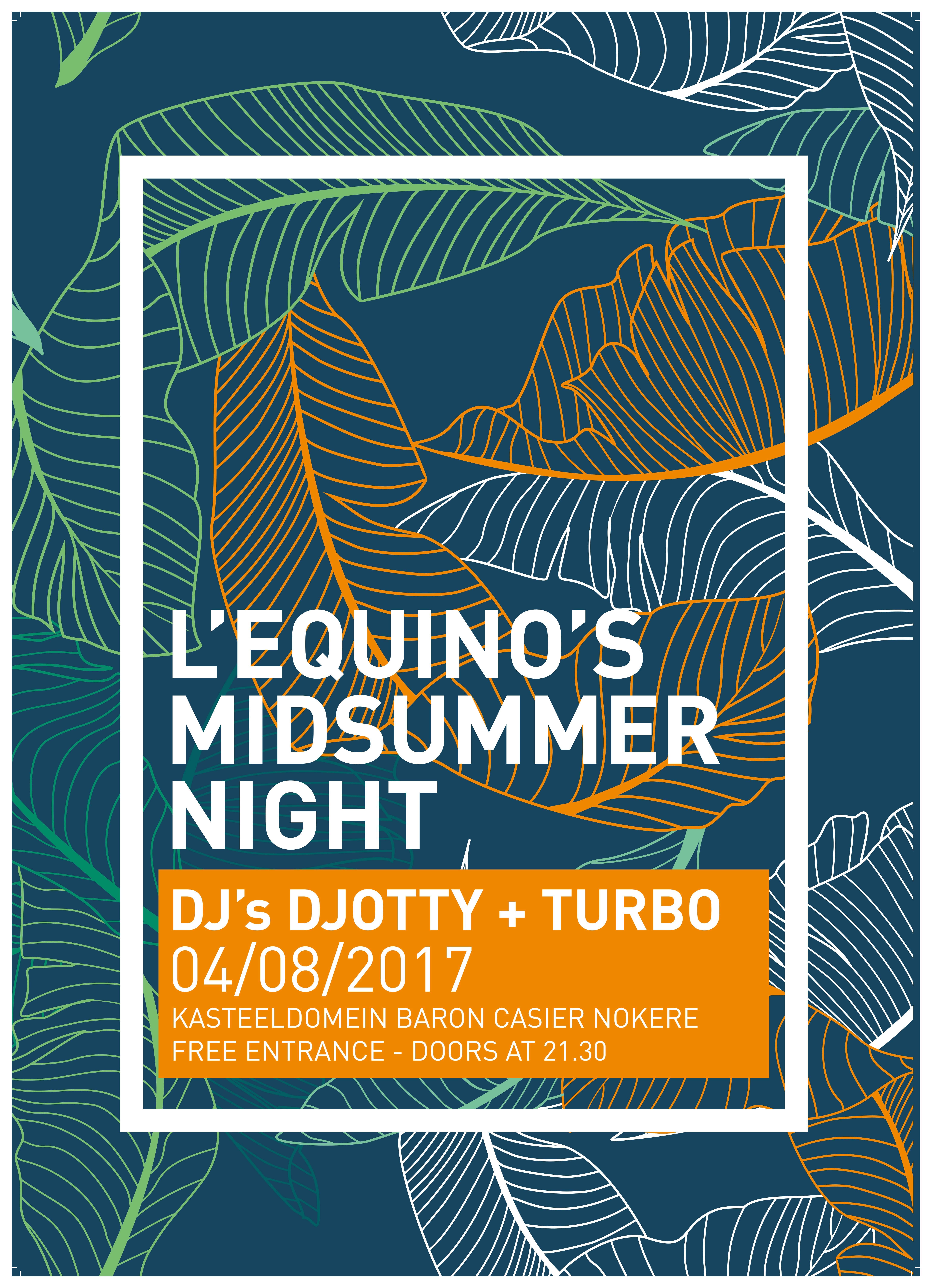 Affiche Mid Summerparty LEquino 2017